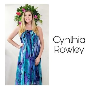 Cynthia Rowley dress blue butterfly size 6